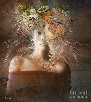 Digital Art - Queen Aquatic by Ali Oppy