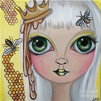 Pop Surrealism Painting - Queen Bee by Jaz Higgins