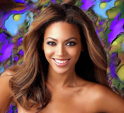 Digital Art - Queen Beyonce by Karen Showell