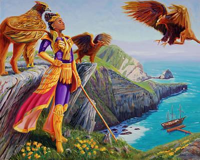 Queen Calafia Of California Art Print by Steve Simon