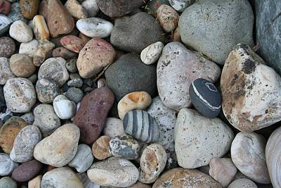 Queen Charlotte Island Stones Original by Sherry Leigh Williams
