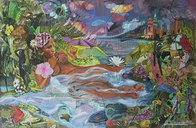 Wall Art - Painting - Queen City Dreaming by Hasaan Kirkland