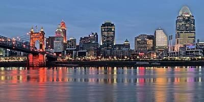 Photograph - Queen City Evening Panoramic by Frozen in Time Fine Art Photography