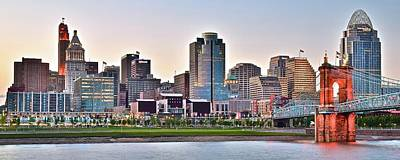 Photograph - Queen City Pano At Sunset by Frozen in Time Fine Art Photography