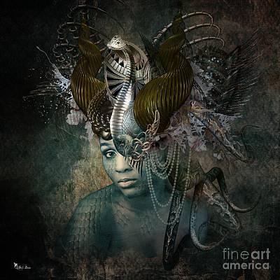 Digital Art - Queen Cobra by Ali Oppy