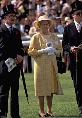 Travel Pics Royalty-Free and Rights-Managed Images - Queen Elizabeth at The Races by Travel Pics