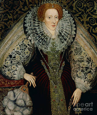 Ostrich Painting - Queen Elizabeth I by John the Younger Bettes