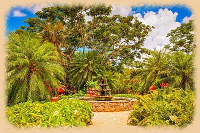Photograph - Queen Elizabeth II Botanic Park Fountain by John M Bailey