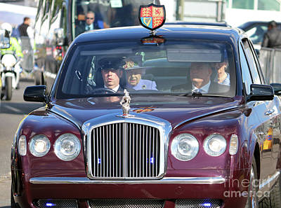 Photograph - Queen Elizabeth In Royal Bentley by Julia Gavin