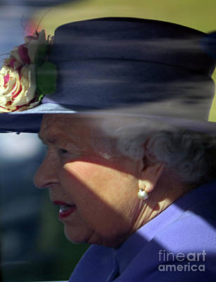 Photograph - Queen Elizabeth On Derby Day At Epsom Downs by Julia Gavin