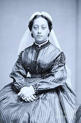 Photograph - Queen  Emma Of Hawaii by Pg Reproductions