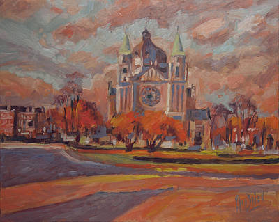 Painting - Queen Emma Square In Autumn Colours by Nop Briex