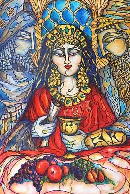 Purim Painting - Queen Esther by Rae Chichilnitsky