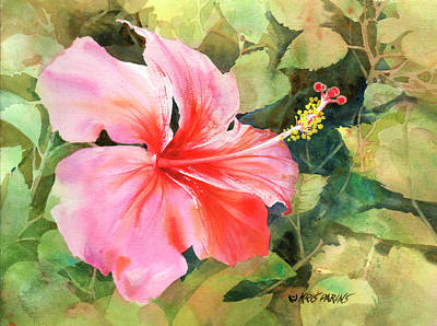 Florida Flowers Painting - Queen For A Day by Kris Parins