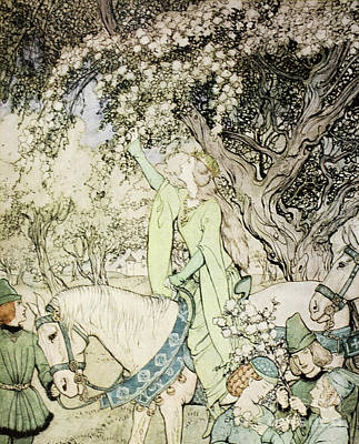 Queen Guinevere Art Print by Arthur Rackham