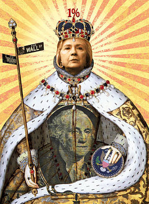Digital Art - Queen Hillary by Steve Dininno
