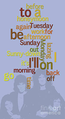 A Sunny Morning Digital Art - Queen. Lazing On A Sunday Afternoon. Order The Lyrics Game. by Pablo Franchi