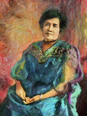 Colorful Button - Queen Liliuokalani by Patrick J Gallagher