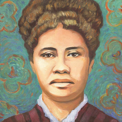 Painting - Queen Liliuokalani by Linda Ruiz-Lozito