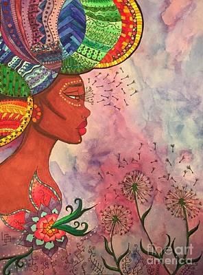 Daydreams Art Drawing - Queen by Lorna Lowe