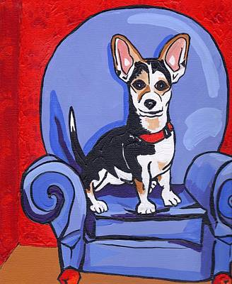 Pooch Painting - Queen Lucy by Laura Brightwood