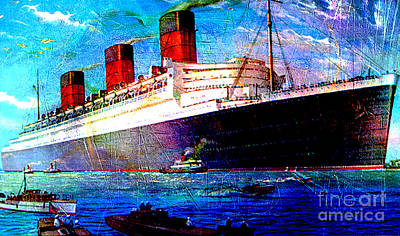 Queen Mary Mixed Media - Queen Mary 1 by Tammera Malicki-Wong