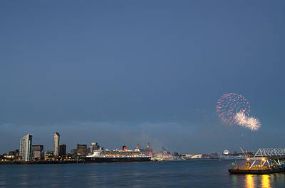 Photograph - Queen Mary 2 Celebrates #175 by Spikey Mouse Photography