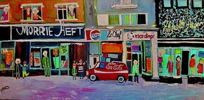 Painting - Queen Mary Fashion Strip Montreal by Michael Litvack