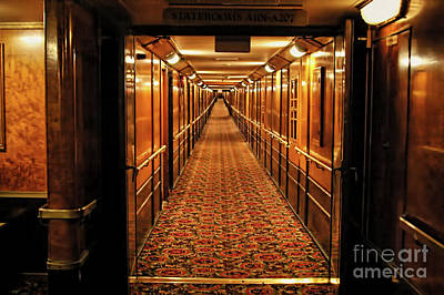 Art Print featuring the photograph Queen Mary Hallway by Mariola Bitner