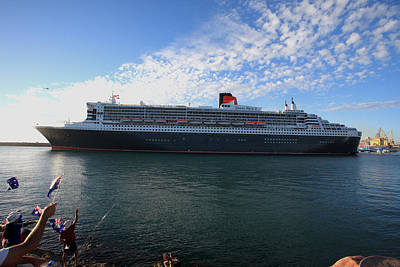 Photograph - Queen Mary II Fremantle Wa  by Tony Brown