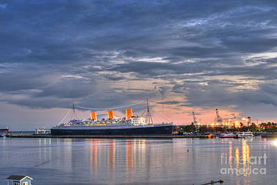 Photograph - Queen Mary Long Beach 2 by David Zanzinger
