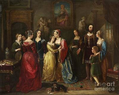 Queen Mary Of Scotland Meets Marie  Art Print