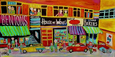 Painting - Queen Mary Road Shopping by Michael Litvack