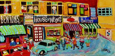 Painting - Queen Mary Shopping 1972 House Of Wong by Michael Litvack
