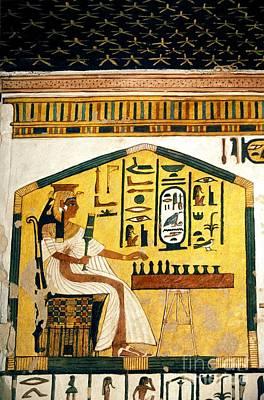 Underworld Human Photograph - Queen Nefertari Playing Senet by Patrick Landmann