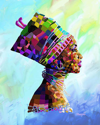 Painting - Queen Nefertiti by Anthony Mwangi