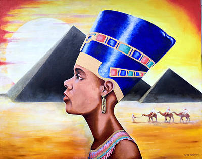 Painting - Queen Nefertiti by Victor Minca