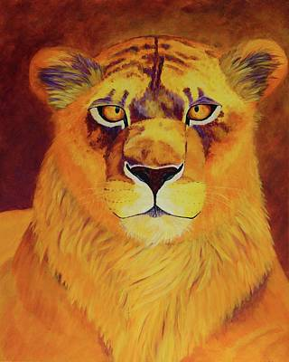 Feline Painting - Queen Of Africa by Wendi Matson