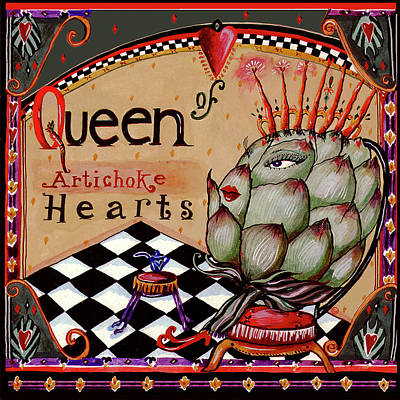 Artichoke Mixed Media - Queen Of Artichoke Hearts by Wendy Costa
