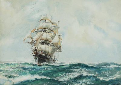 Queen Of Clippers Art Print by Montague Dawson