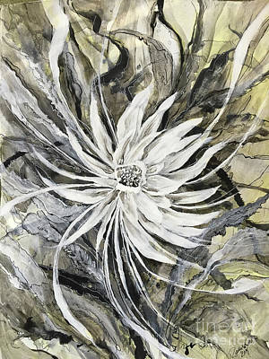 Black And White Painting - Queen Of Crescendo by Rachel Meyers