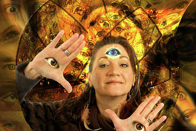 Digital Art - Queen Of Eyes by Lisa Yount
