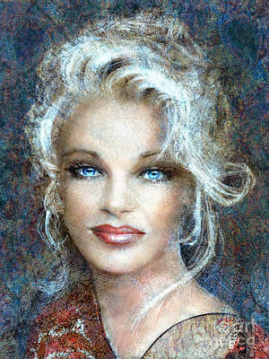 Artwork Painting - Queen Of Glamour Bright by Angie Braun
