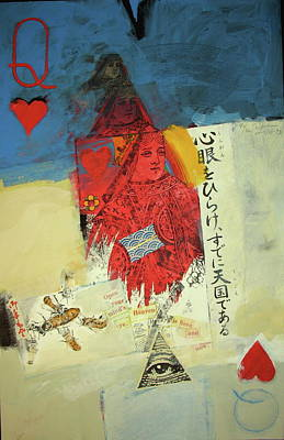 Mixed Media - Queen Of Hearts 40-52 by Cliff Spohn