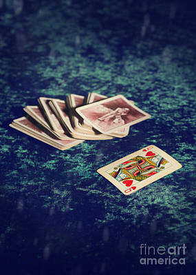 Playing Photograph - Queen Of Hearts by Amanda Elwell
