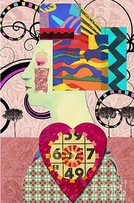Digital Art - Queen Of Hearts Custom Order by Elena Nosyreva