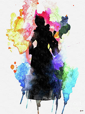 Mixed Media - Queen Of Hearts by Daniel Janda