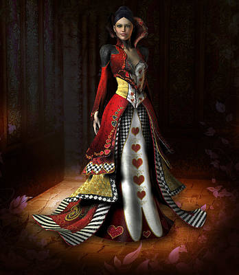 Queen Of Hearts Art Print by David Griffith