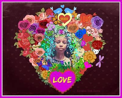 Photograph - Queen Of Hearts Heartsome Sentiments by Kaitha Het Heru