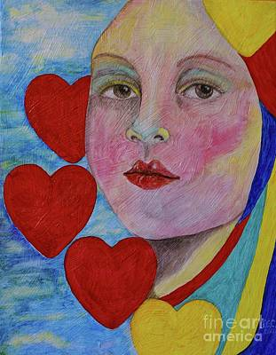 Painting - Queen Of Hearts by Jane Chesnut